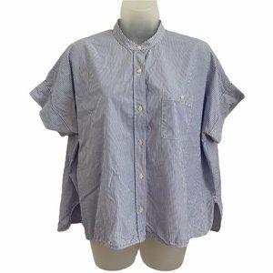 Everlane 8 Shirt Dolman Boxy Oversized Blue White